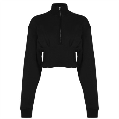 1017 ALYX 9SM Exaggerated Pullover Black BLK0001 Jackets For Women EBY2U4979