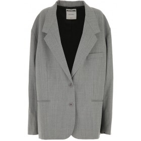 Moschino Jackets 53% polyestere, 43% Virgin wool Grey Clothing for women on sale near me ENGW816