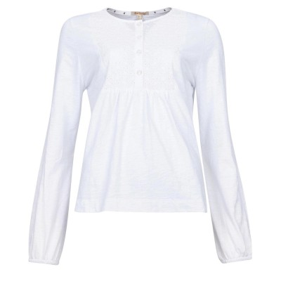 Barbour Penfor Top White WH11 Cheap For Women H6JZV6153