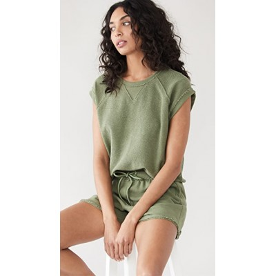 ATM Anthony Thomas Melillo Young Ladies Destroyed Wash French Terry Raglan Sweatshirt Agave Matching Sets NGYO231