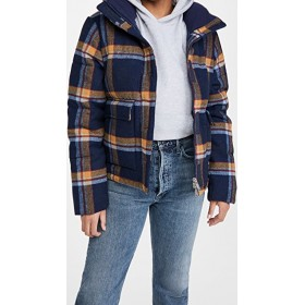 Penfield Young Women's Wyeford Check Jacket Navy Vests Under UVTE175