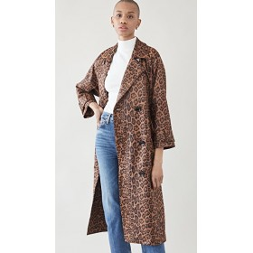 STAND STUDIO Girl's Shelby Trench Brown Leo Vests Style WHQA630