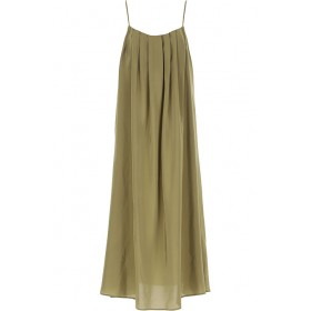 Federica Tosi Dresses Plus Size Silk Military Green Clothing for women New Arrival USBV426