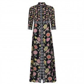 HAYLEY MENZIES Dream Maxi Dress Black Multi Discount For lady 66HM43360