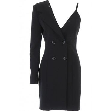 Moschino Dresses Well Dressed 90% Polyester, 10% Elastane Black Clothing for women Sale YASZ393