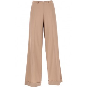 ALYSI Pants Plus Size 95% Virgin wool, 5% Lycra Antique Beige Clothing for Lady WUYV942
