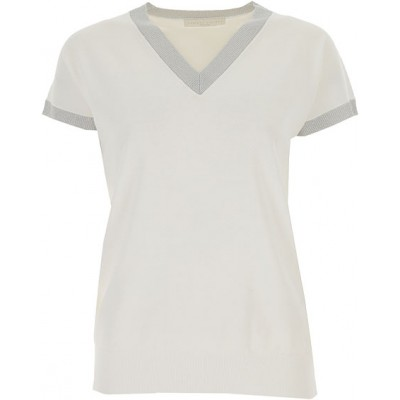 Fabiana Filippi Sweaters Online 100% Cotton White•Other colors: Silver Clothing for girl LZVO202