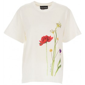 Moschino T-Shirts Fit Cotton White•Other colors: Multicolor Clothing for girl ZVTF591